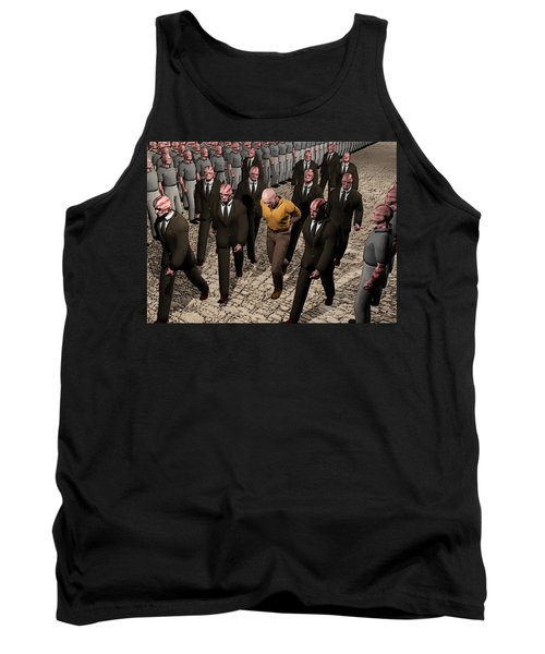 Tank Top featuring the digital art Last March Of The Non Conformist by John Alexander