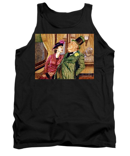 Margaret And W.c. Fields Tank Top by Linda Simon