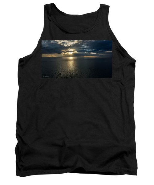 Midnight Sun Over Mount Susitna Tank Top by Andrew Matwijec
