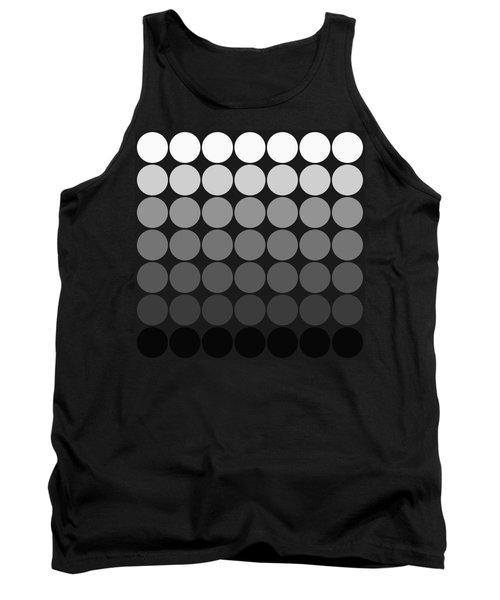 Mod Pop Gradient Circles Black And White Tank Top