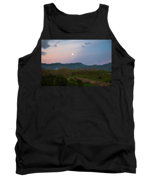 Moon Over The Hills Of Povoacao Tank Top
