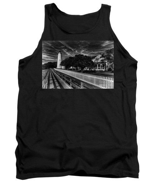 Ocracoke Lighthouse Tank Top by Tony Cooper