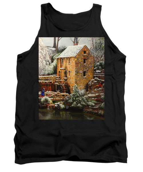 Old Mill In Winter Tank Top