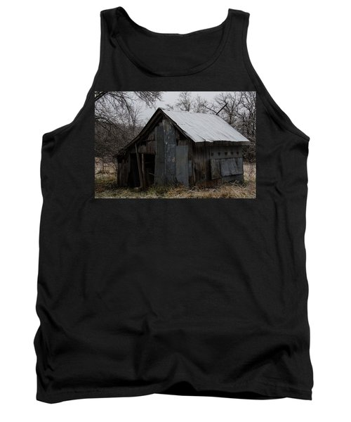 Patchwork Barn With Icicles Tank Top