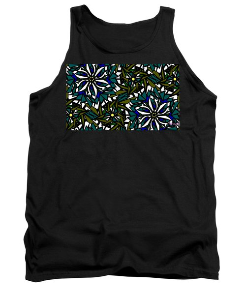 Pin-wheel Flowers Tank Top