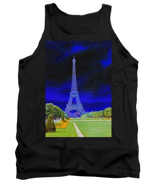 Purple Eiffel Tank Top