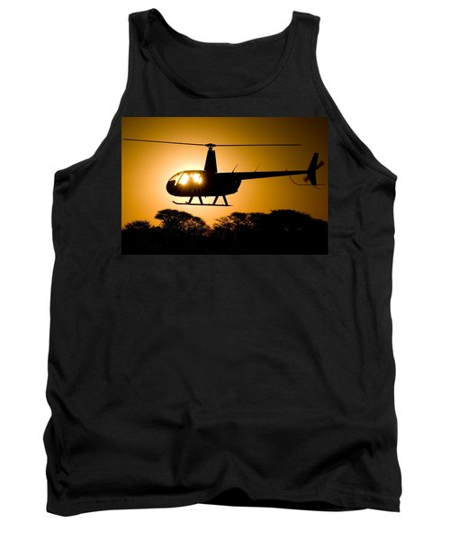 R44 Sunset Tank Top by Paul Job