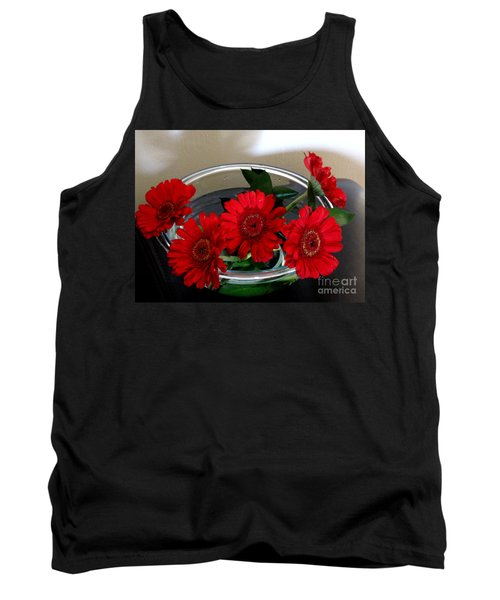 Red Flowers. Special Tank Top