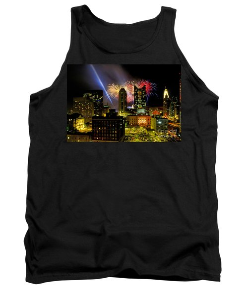 21l334 Red White And Boom Fireworks Display Photo Tank Top