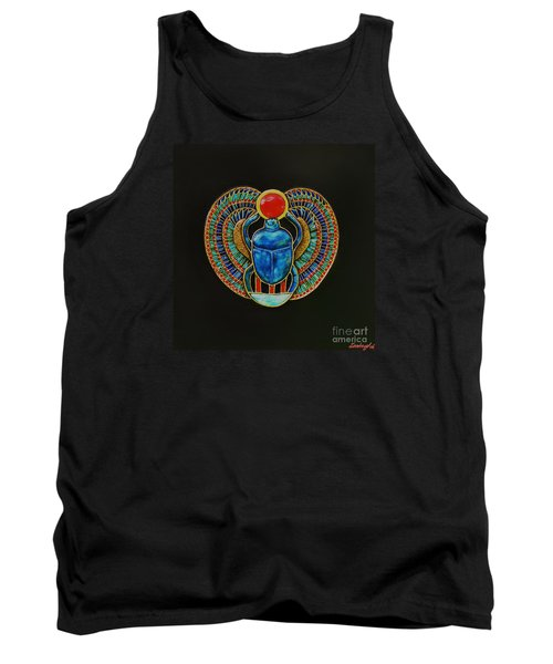 Tank Top featuring the painting Scarab by Joseph Sonday