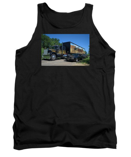 Smokey And The Bandit Tribute 1973 Kenworth Semi Truck And The Bandit Tank Top by Tim McCullough