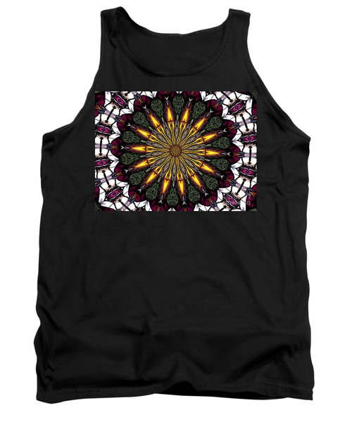 Tank Top featuring the photograph Stained Glass Kaleidoscope 1 by Rose Santuci-Sofranko