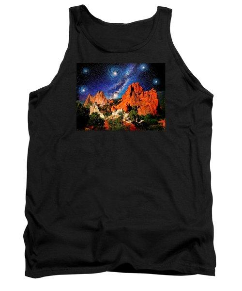 Starry Night At Garden Of The Gods Tank Top by John Hoffman