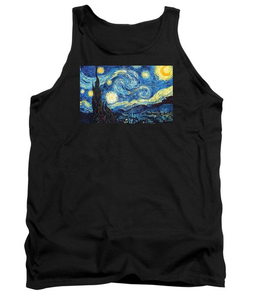 The Starry Night Tank Top by Vincent Van Gogh