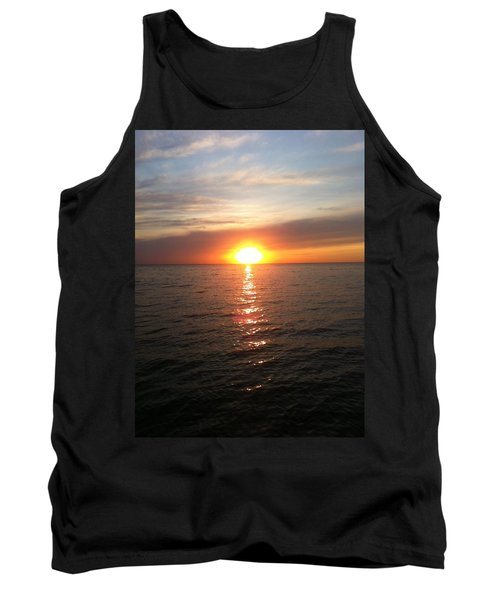 Sunset On The Bay Tank Top by Tiffany Erdman