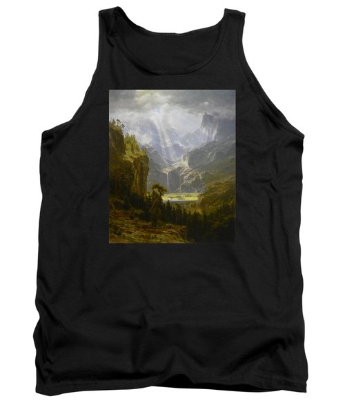 The Rocky Mountains Lander's Peak Tank Top by Celestial Images