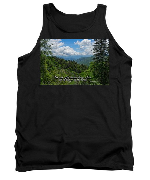 Tank Top featuring the photograph Things Above by Larry Bishop