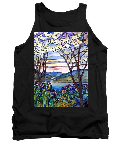 Stained Glass Tiffany Frank Memorial Window Tank Top by Donna Walsh