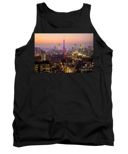 Tokyo Tower - Tokyo - Japan Tank Top by Luciano Mortula