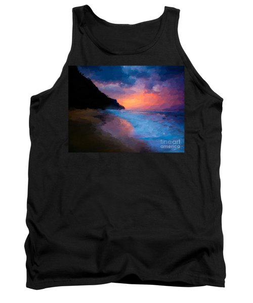 Tank Top featuring the digital art Tropical Paradise by Anthony Fishburne