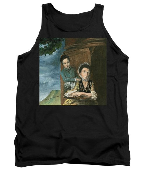 Tank Top featuring the painting Vintage Mother And Son by Mary Ellen Anderson
