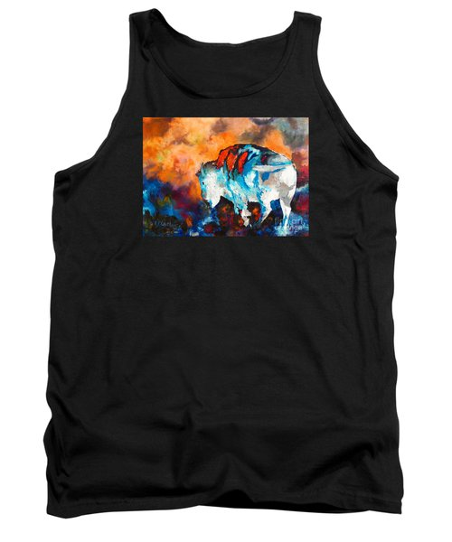 Tank Top featuring the painting White Buffalo Ghost by Karen Kennedy Chatham