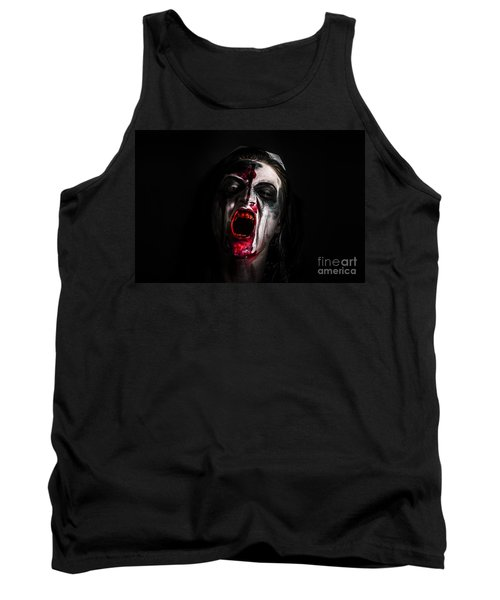 Zombie Girl Screaming Out In The Darkness Tank Top