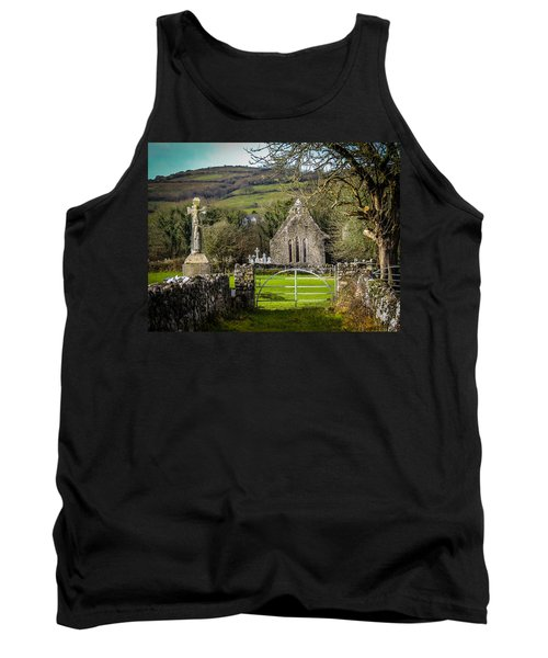 12th Century Cross And Church In Ireland Tank Top