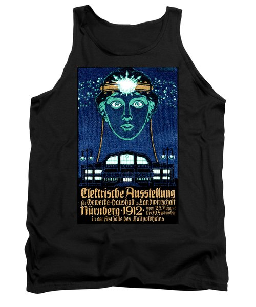 1912 Exposition Of Electricity Poster Tank Top