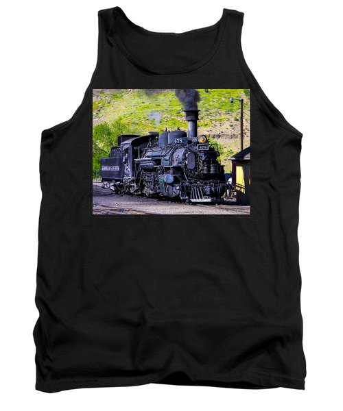 1923 Vintage  Railroad Train Locomotive  Tank Top