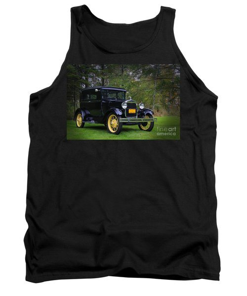 1928 Ford Model A Tudor Tank Top by Davandra Cribbie