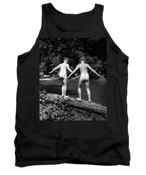 1930s Rear View Pair Naked Skinny- Tank Top