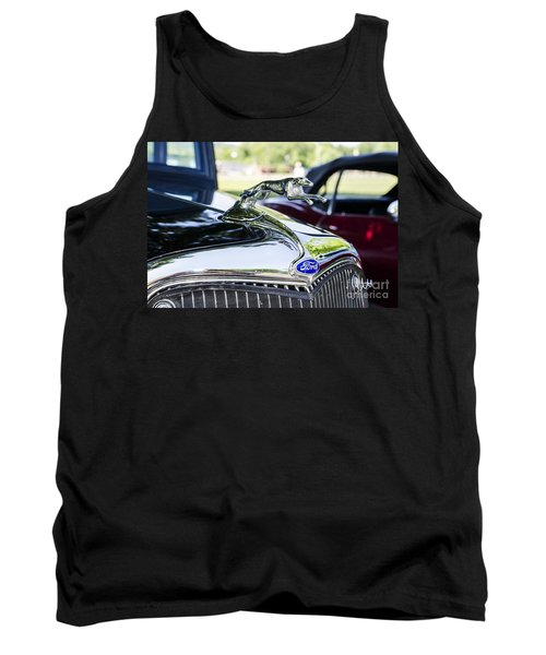 Tank Top featuring the photograph 1933 Ford Hood Ornament by Paul Mashburn
