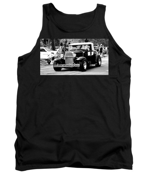 Tank Top featuring the photograph 1934 Classic Car In Black And White by Ester  Rogers