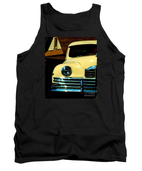 Tank Top featuring the photograph 1950 Yellow Packard by Janette Boyd