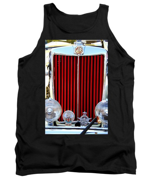 Classic Car Tank Top featuring the photograph 1950 Mg by Aaron Berg