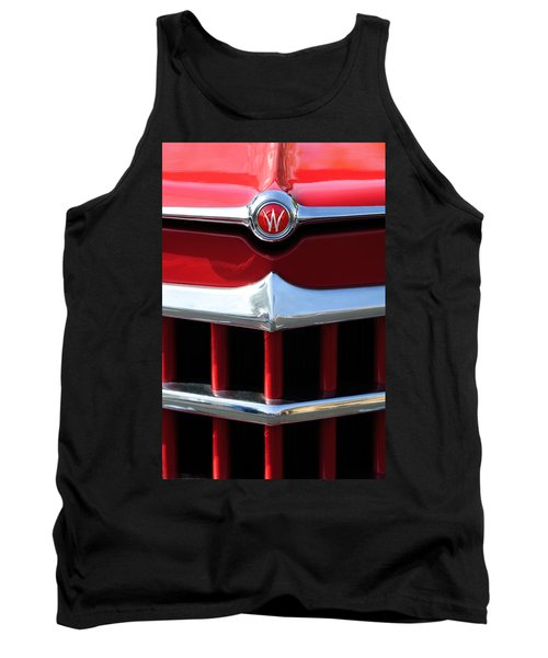 1950 Willys Overland Jeepster Hood Emblem Tank Top