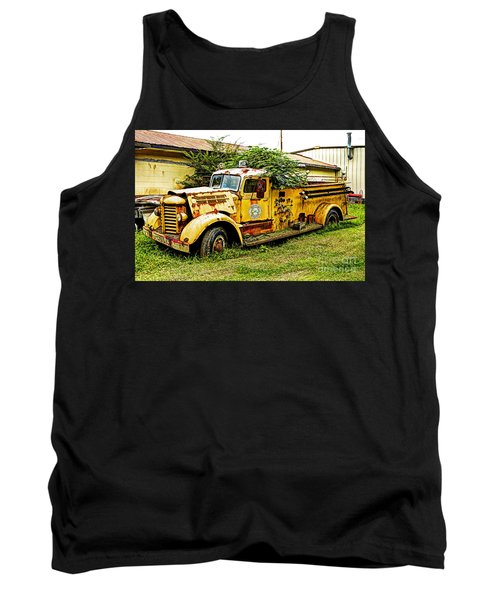 Tank Top featuring the photograph 1954 Federal Fire Engine by Paul Mashburn