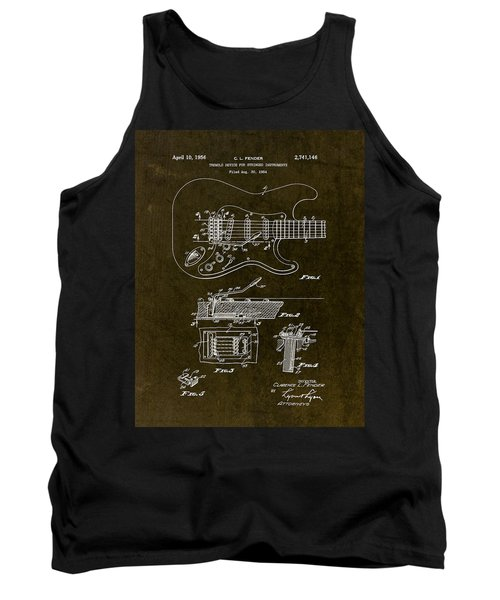 1956 Fender Tremolo Patent Drawing II Tank Top by Gary Bodnar