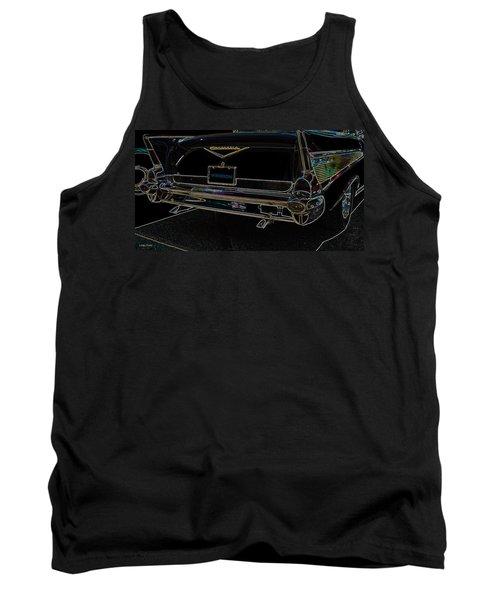1957 Chevrolet Rear View Art Black_varooom Tag Tank Top