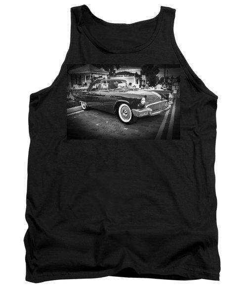1957 Ford Thunderbird Convertible Bw Tank Top