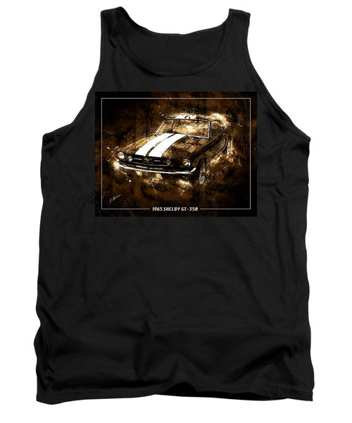 1965 Ford Shelby Mustang Gto-350 #5 Tank Top