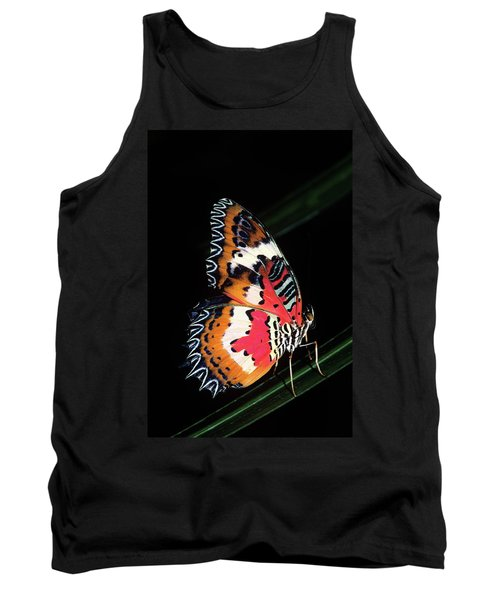 1990s Colorful Malay Lacewing Butterfly Tank Top