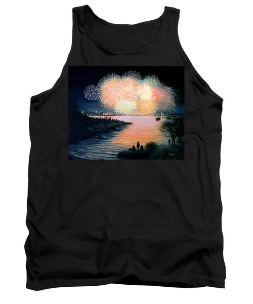 4th Of July Gloucester Harbor Tank Top by Eileen Patten Oliver