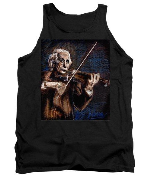 Albert Einstein And Violin Tank Top
