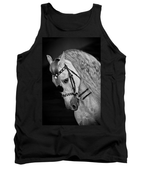 Tank Top featuring the photograph Andalusian D9098 by Wes and Dotty Weber