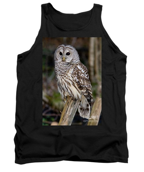 Tank Top featuring the photograph Barred Owl by Les Palenik