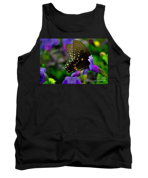 Black Swallowtail Tank Top by Angela DeFrias