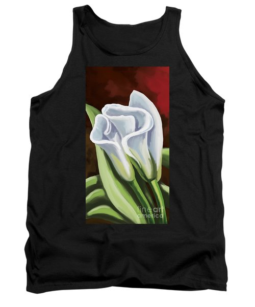 Tank Top featuring the painting Calla Lilies by Tim Gilliland