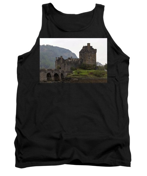 Cartoon - Structure Of The Eilean Donan Castle With A Stone Bridge Tank Top